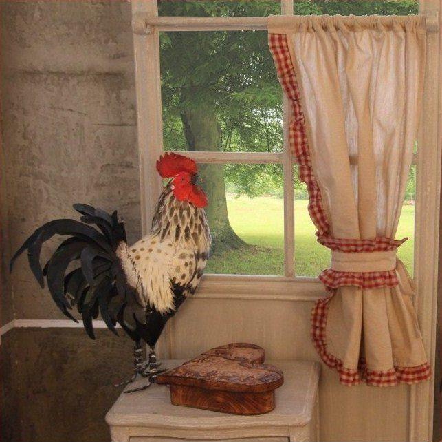 Rideau Bonne Femme écru Kitchen Curtainsles