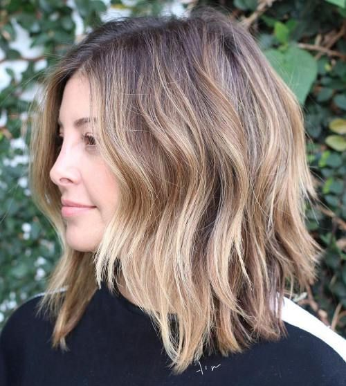 choppy lob with uneven layers