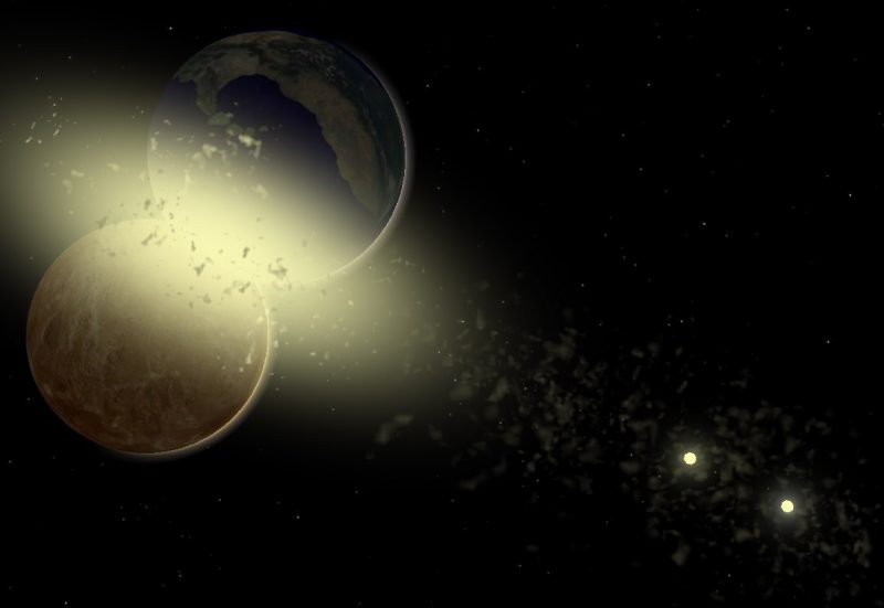 When Exoplanets Collide Space Earthsky Planetary System Late Heavy Bombardment Milky Way Galaxy