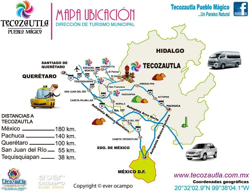 Mapa Ubicacion Tecozautla Pueblo Magico Tecozautla Hidalgo