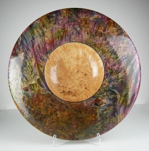 Maple Burl Multicolor Platter