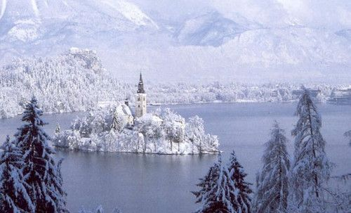 Lake Winter Lake Bled Slovenia Picture On Visualizeus