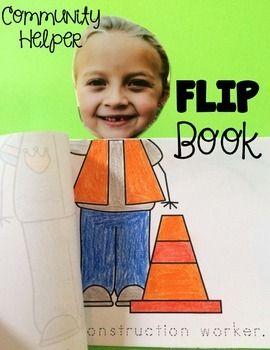 Community Helper Flip Book Free Community Helpers Preschool