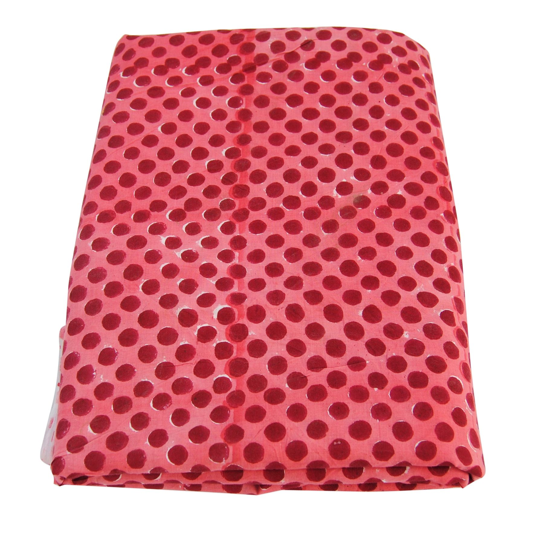 Polka Dot Block Printed Indian Natural Cotton Clothing
