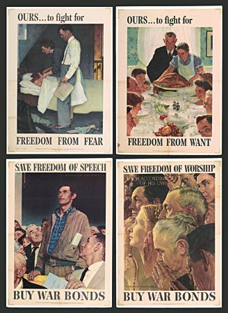 Gallery For Norman Rockwell Four Freedoms