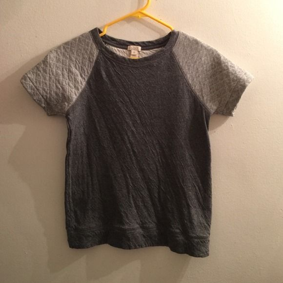 Super soft J. Crew tee Easy and casual tee from J. Crew. Can be worn with slacks and heels to work or shorts/jeans for a more casual look! Very versatile and SUPER soft! Only worn once! (My iron broke so it's a little wrinkly, sorry!) J. Crew Tops