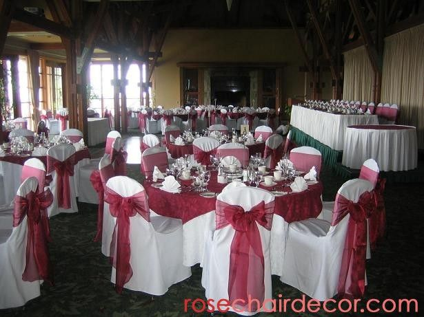 Burgundy Wedding | ... Wedding Dj, Decorations, Vancouver Seat Covers,  Wedding