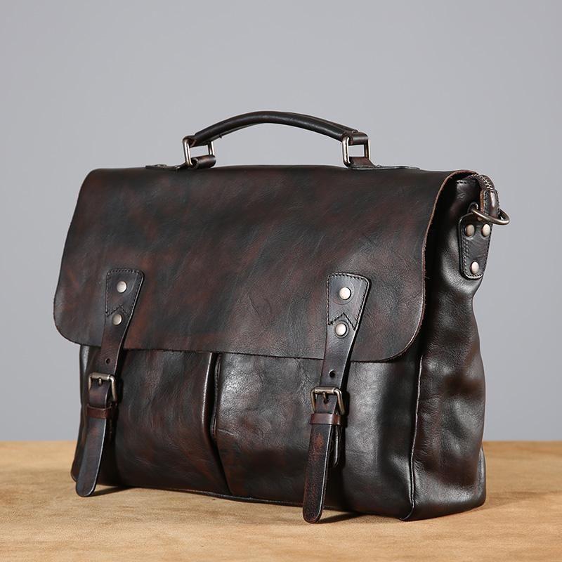 Photo of Handmade Leather Business Bag, Genuine Leather Laptop Bag GLT055