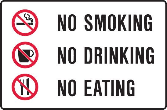 Prohibition Signs Landscape - No Smoking No Drinking No