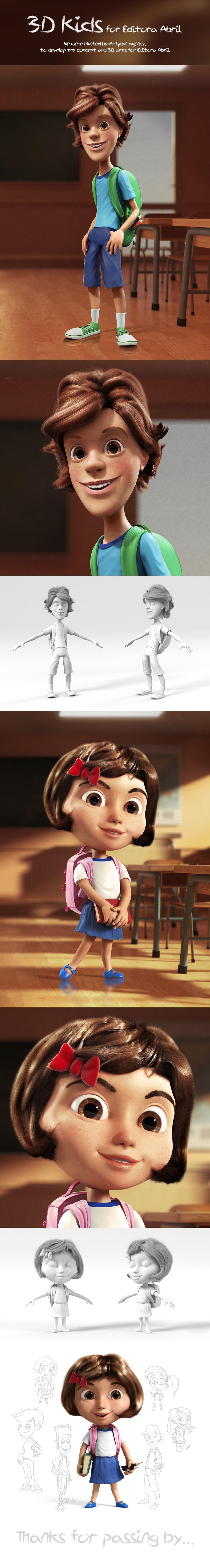 https://www.behance.net/gallery/19061767/3D-Kids-characters