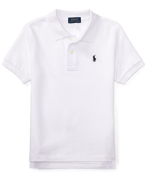 7e980451 Cotton Mesh Polo Shirt - Boys 2-7 Short Sleeve - RalphLauren.com ...