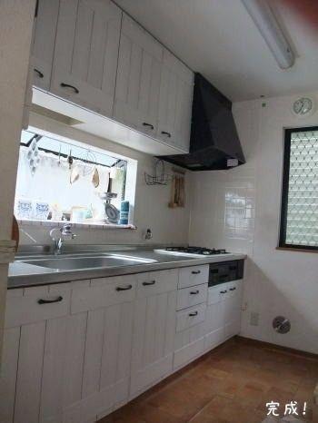 キッチン吊戸棚を板壁風にベニア板で節約リメイクdiyのご紹介