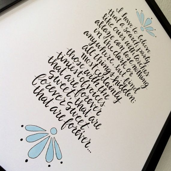 Illustrated Forever Sweet Print by dearsophiepaperco on Etsy