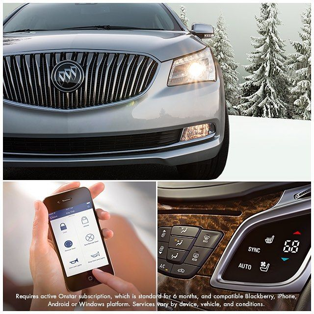on cold days preheat your buick with remote start powered by available onstarusa remote link app buick gmc buick buick regal pinterest