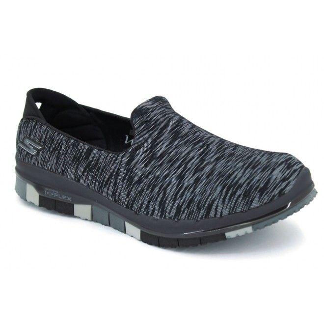 Skechers Go Flex Agility 14015 Zapatos mocasines de estilo casual para mujer  hechos con materiales textiles