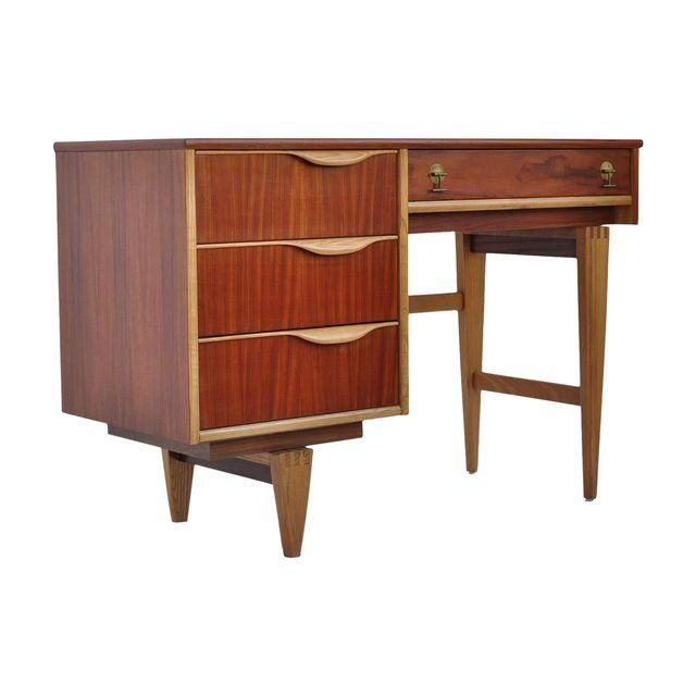 Image Of Stanley Furniture Walnut Birch Writing Desk Walnut