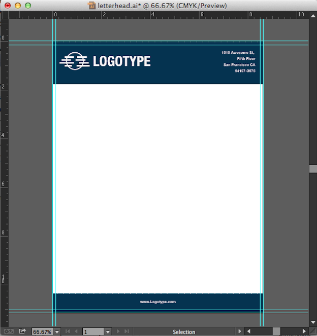 How to make a letterhead in Adobe InDesign/Photoshop/Illustrator to ...