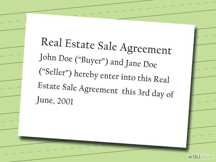 Write a FSBO Contract - sales agreement contract