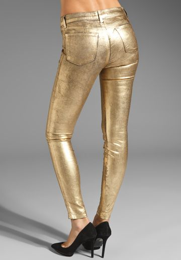 J BRAND Stretch Legging in Coated Metallic Gold at Revolve Clothing - Free Shipping!