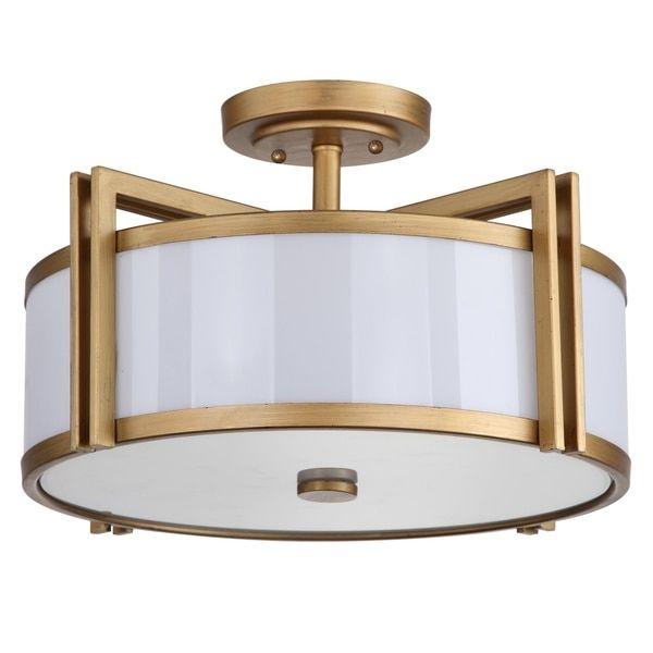 Safavieh lighting 10 25 inches 3 light orb gold ceiling light · flush mount
