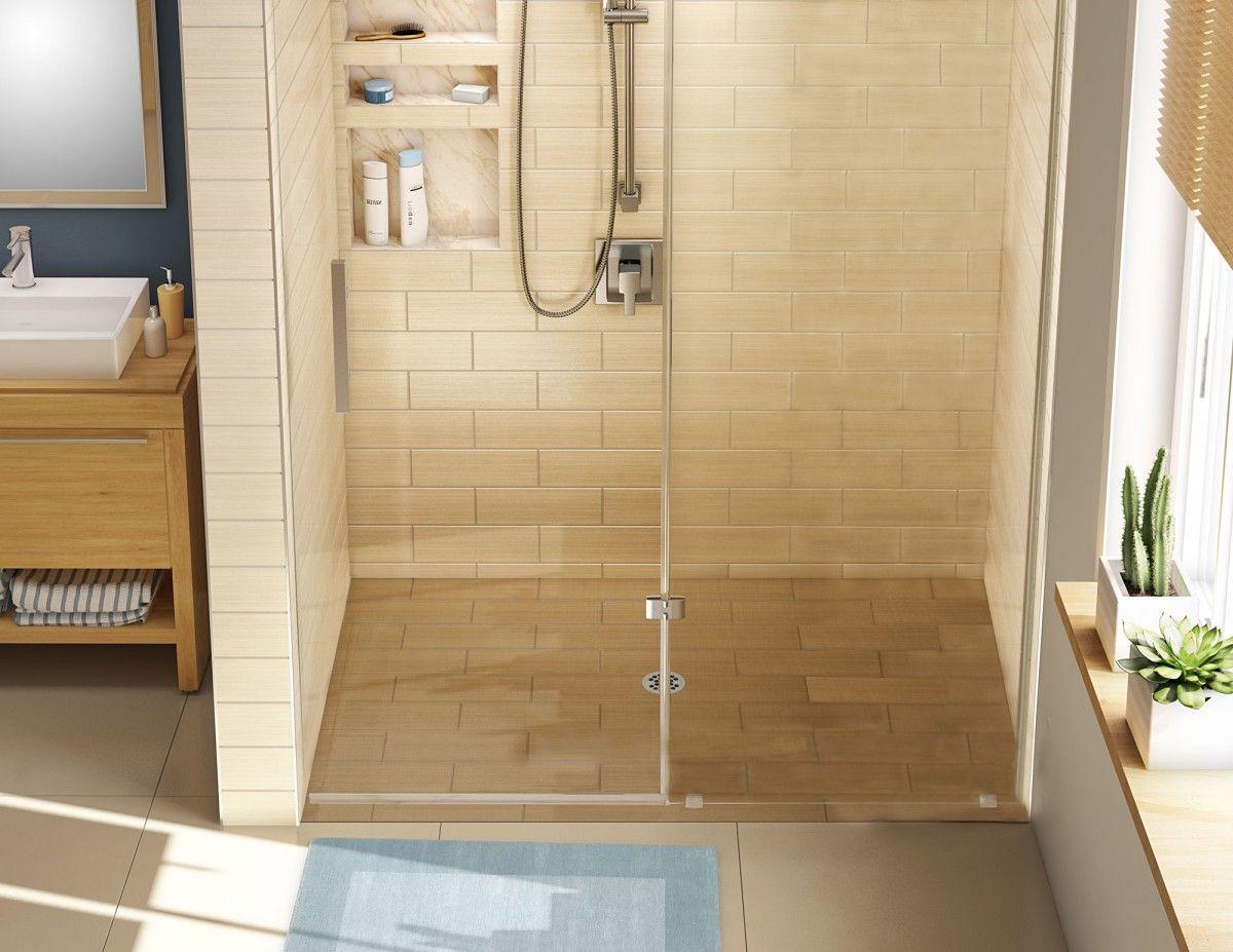 Beautiful Daughter Shower Barrier Free Shower Pan With Center Drain, 30u2033D X 60u2033