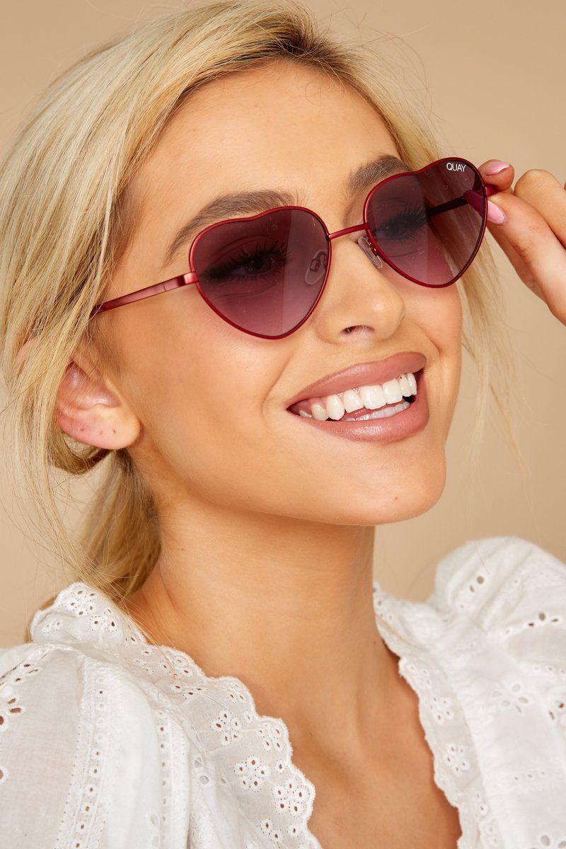 8a245895c2 Quay Australia Kim Sunglasses - Heart Frame Sunnies - Sunglasses - $60 –  Red Dress Boutique