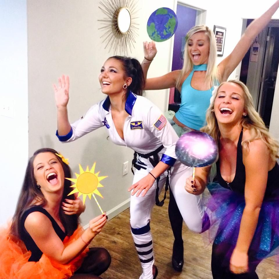 Astronaut Sun Earth Galaxy Group Costume Crazy Halloween Costumes Group Costumes Spirit Week Outfits