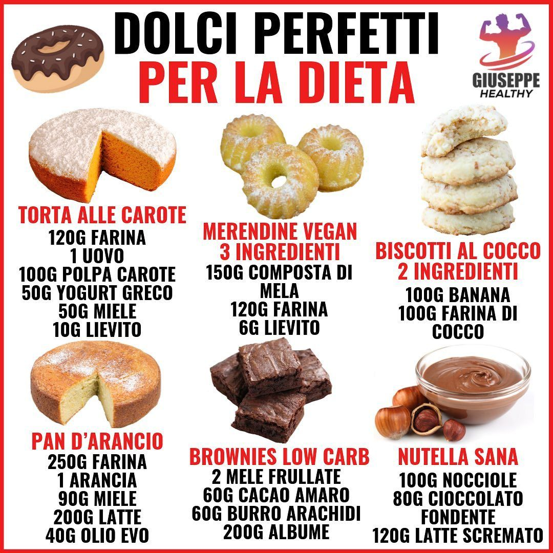 """Giuseppe Healthy on Instagram: """"👉 Un metodo per evitare di assumere dolci o zuccheri in eccesso è quello di prepararli da soli in casa sani e con meno calorie ! In questo…"""""""