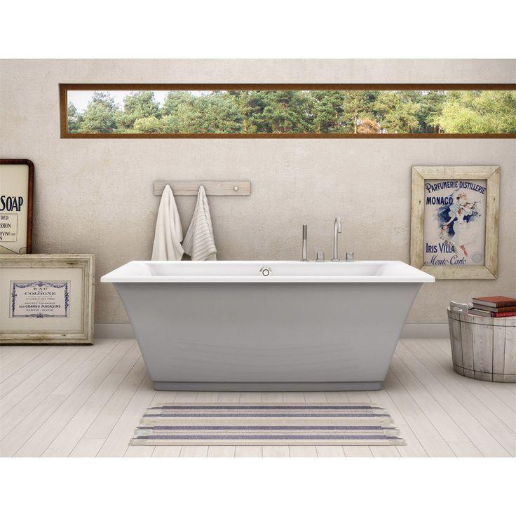 Maax 105742-000-006 Optik Freestanding Bathtub with Sterling Silver ...