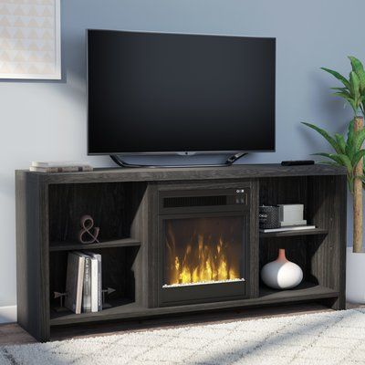 Mercury Row Pelton Tv Stand For Tvs Up To 65 Inches With Fireplace