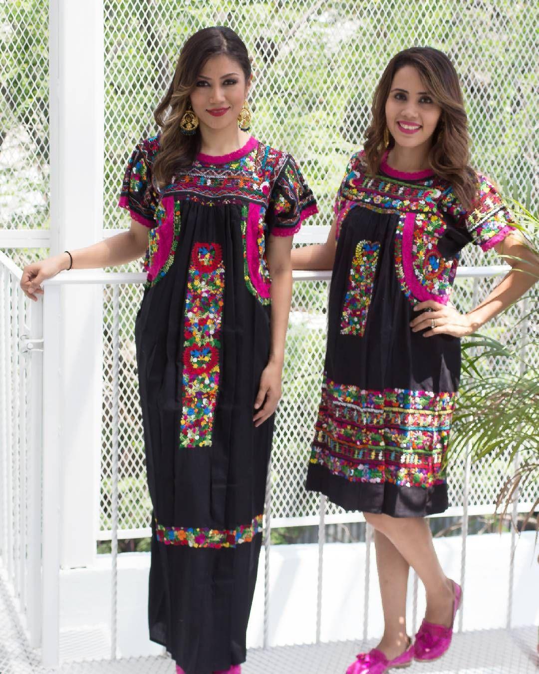 """Pedazo de mi Tierra en Instagram: """"Largo o corto? Cómo sea, se ve hermoso!! Vestido de popelina con todas las técnicas de trabajo de las mujeres de San Antonino Castillo…"""""""
