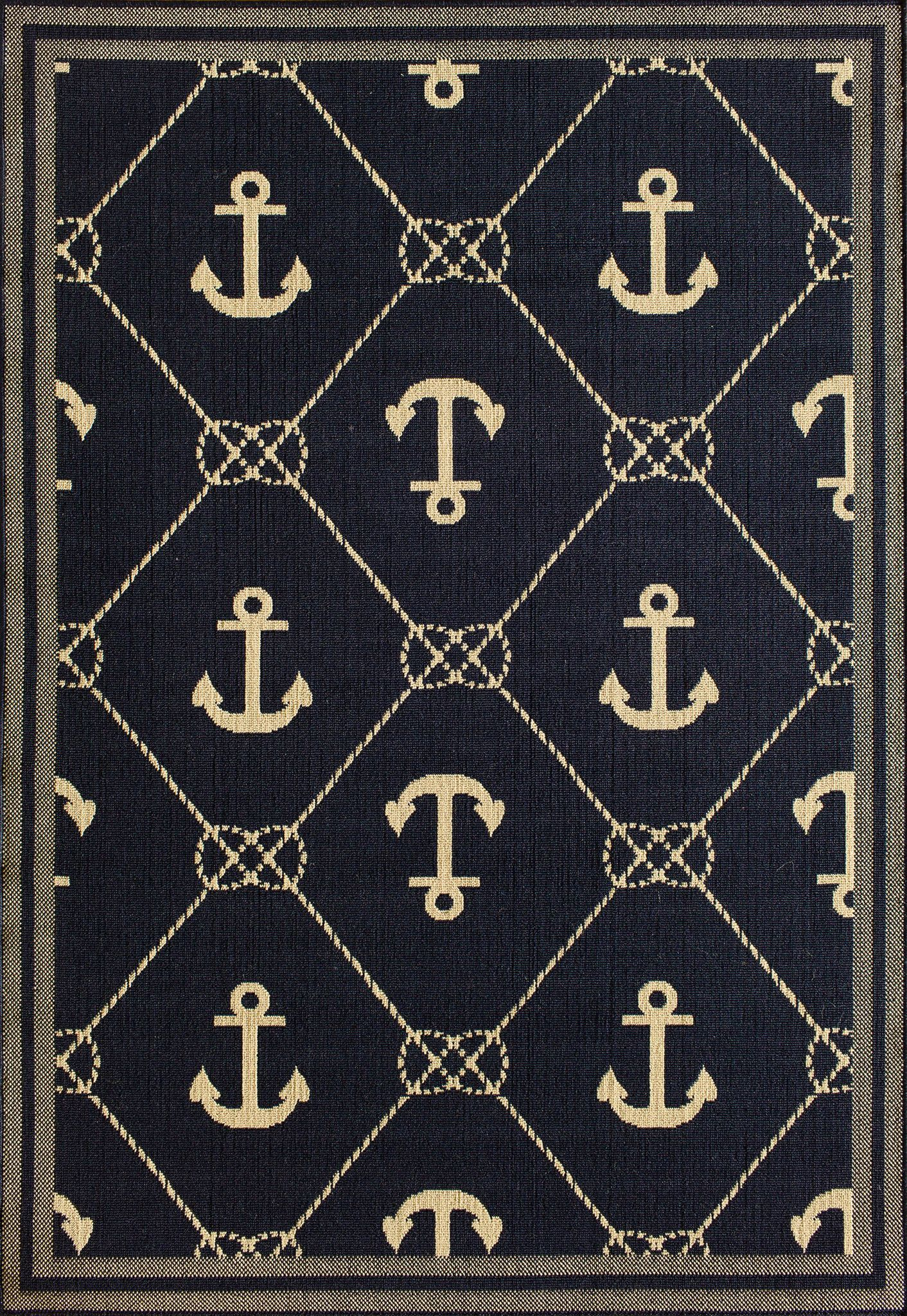 Tributary 6004 42 Tributary Anchor Navy Ivory Rug In 2018 Texure
