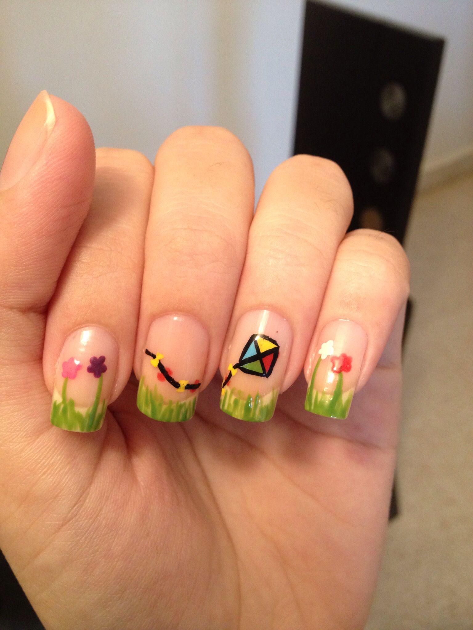 Kite nails! | Nailed it | Pinterest | Kites