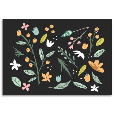 """East Urban Home Floral Collage Graphic Art Size: 16"""" H x 12"""" W"""