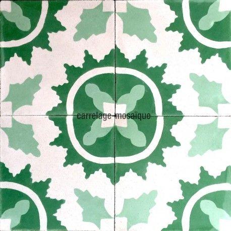 Carreaux De Ciment Mur Et Sol 1m2 Modele Ferret Vert In 2020