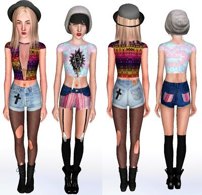 Sims 3 Female Clothes: Indie Sims 3 Clothing Custom Content Download