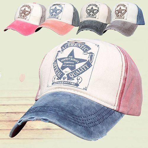 Click to Buy    Women s Men s Baseball Cap Summer Pentagram Letter Print  Snapback.    f557172fdb31