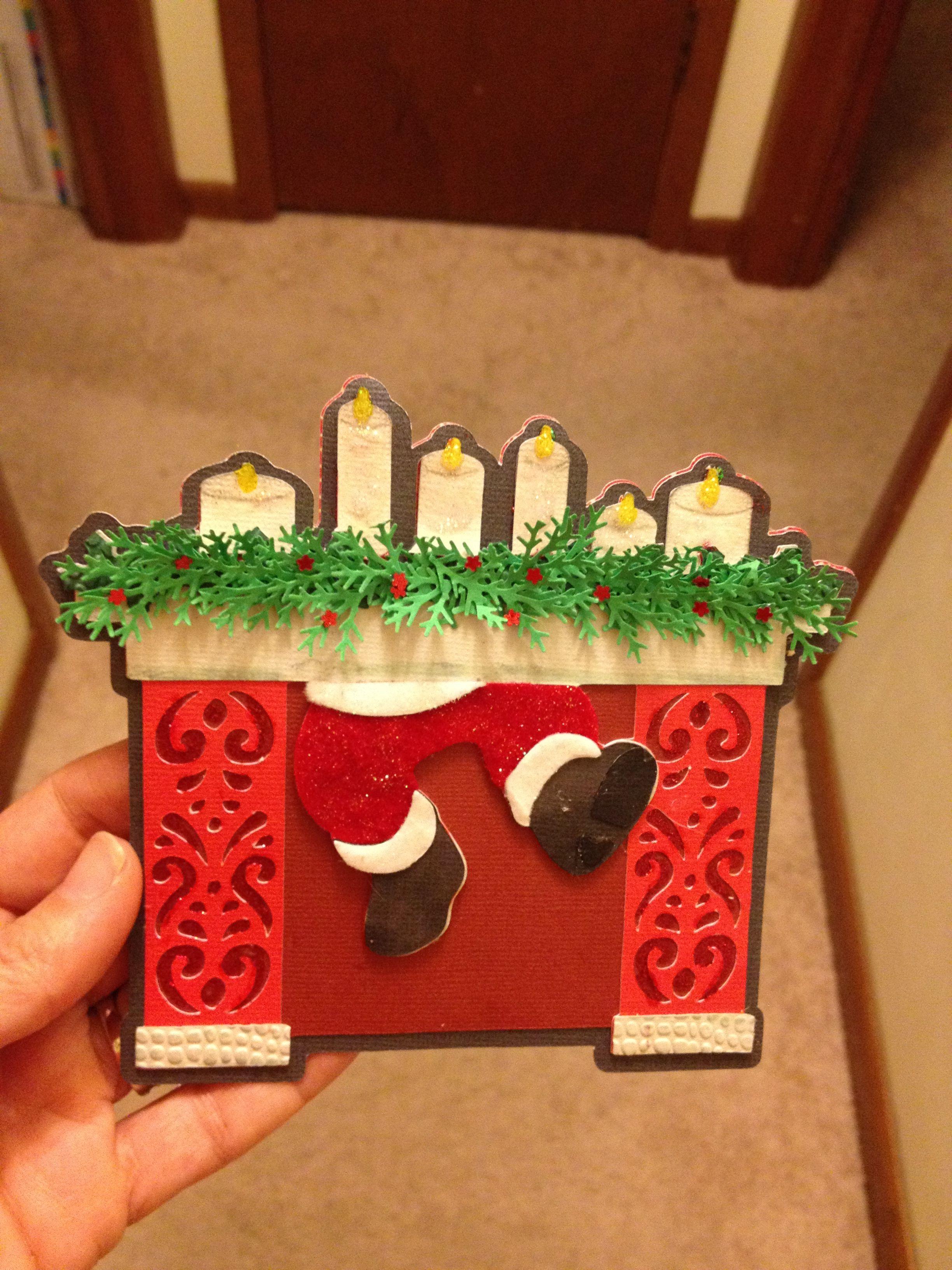 Cricut Christmas Card Santa in Chimney*** Cartridges