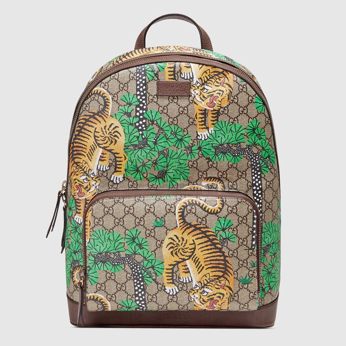 5de418538b7e GUCCI Gucci Bengal Gg Supreme Backpack - Gucci Bengal Print.  gucci  bags   lining  canvas  backpacks  suede