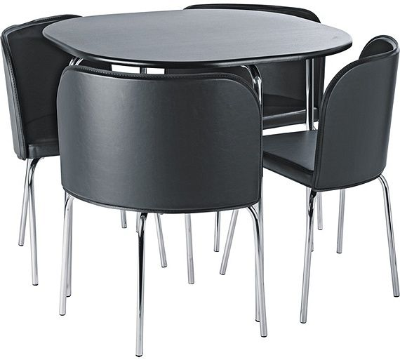Buy Argos Home Amparo Black Dining Table & 4 Black Chairs