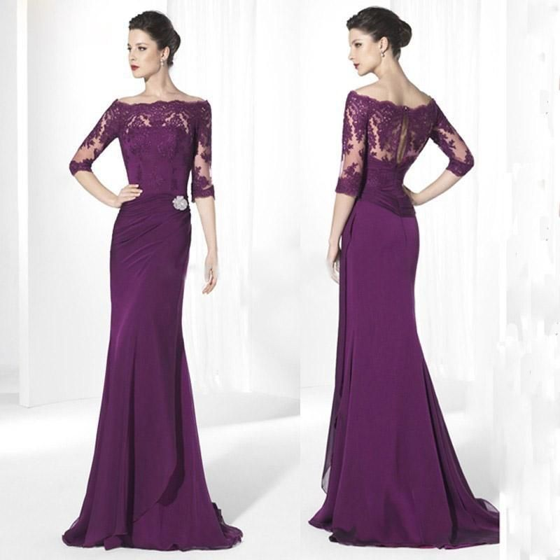 2015 purple mothers dresses of the bride groom for