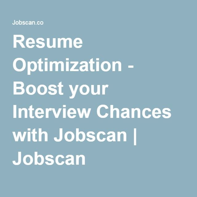 Keywords In Resume Resume Optimization  Boost Your Interview Chances With Jobscan .
