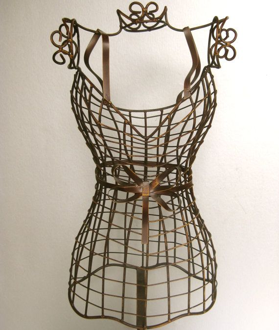 Vintage Mannequin, Wire Form Dress Mannequin, Brown Decor, Bronze ...