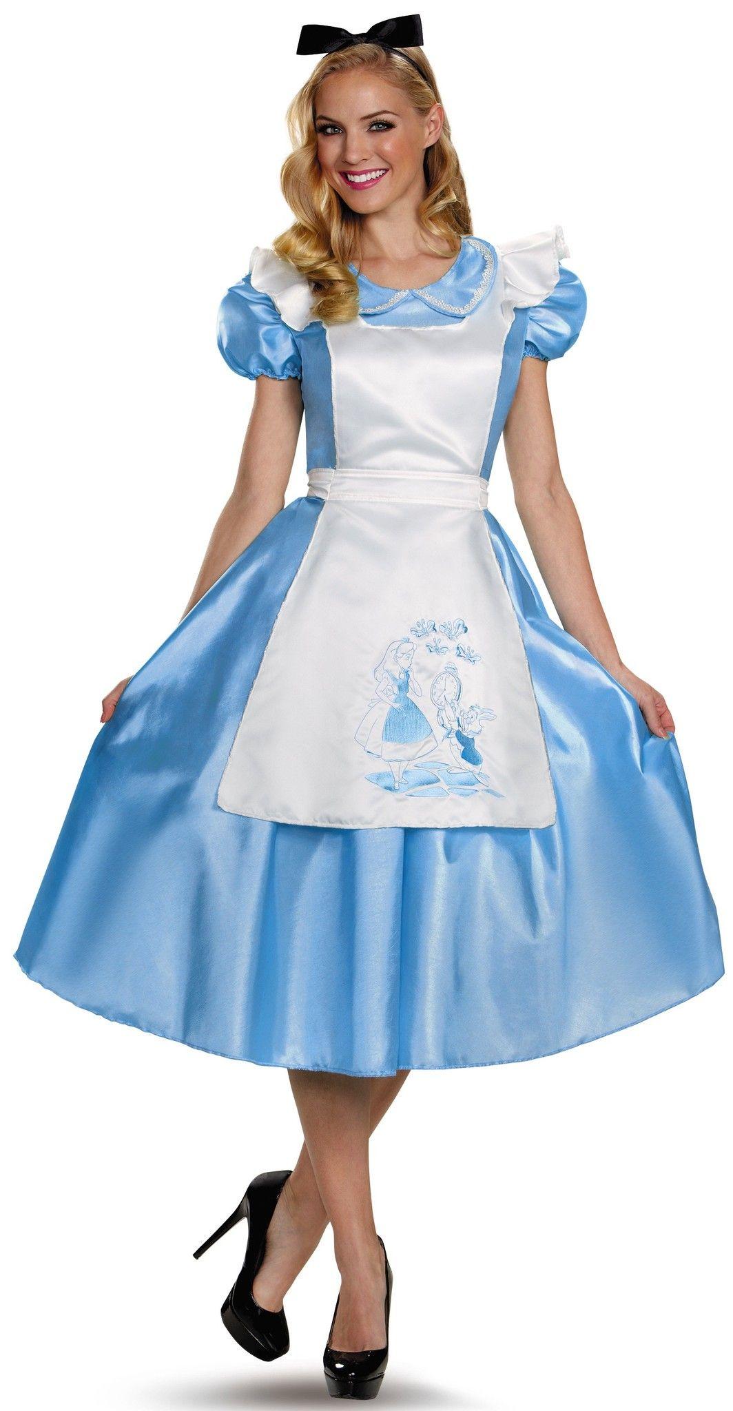 Fantasia Feminina Alice no País das Maravilhas Adulto Festa Halloween  Carnaval 83a29b4e462