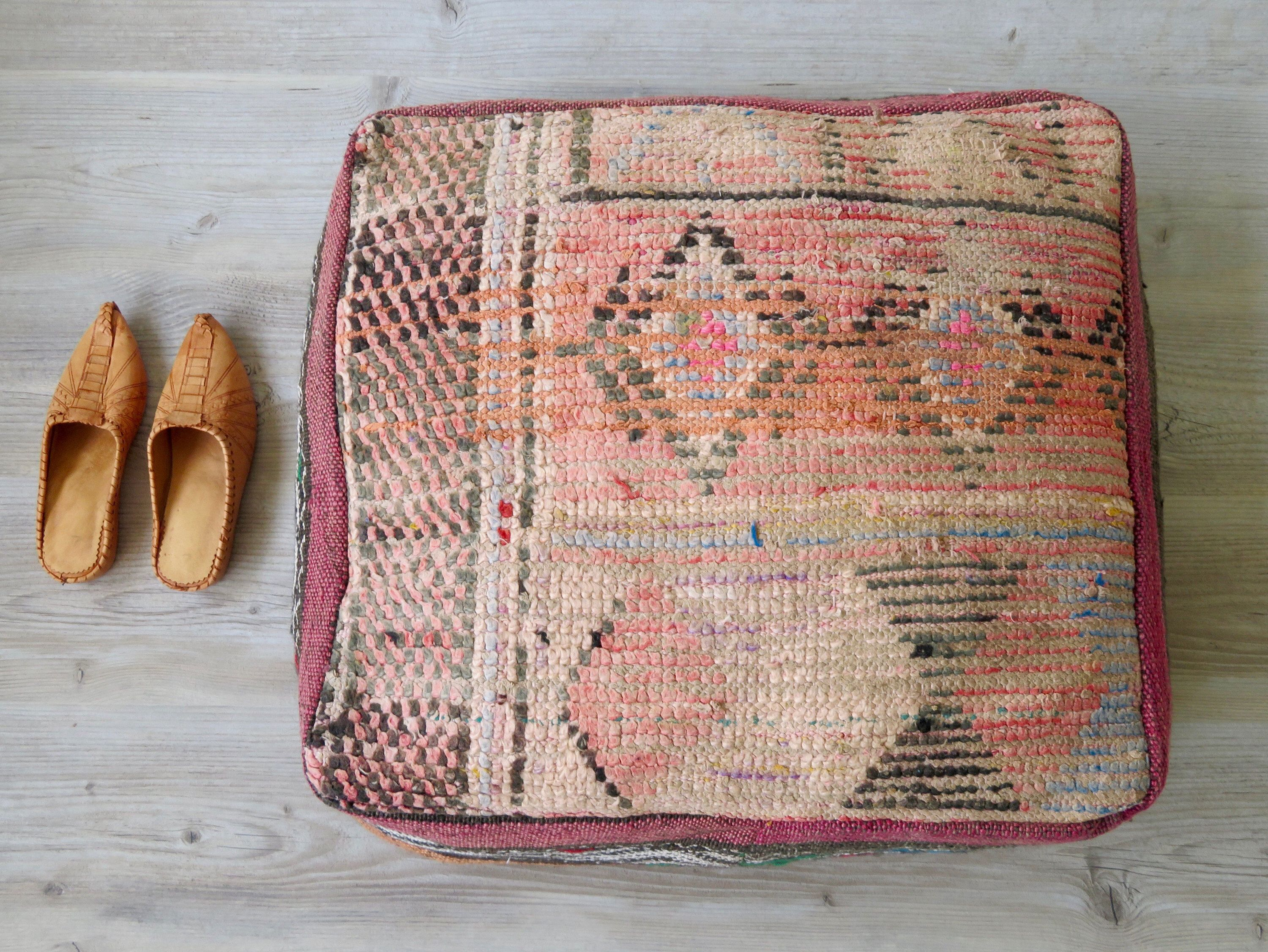 pillow maven floor pillows mg moroccan products orange collection crush