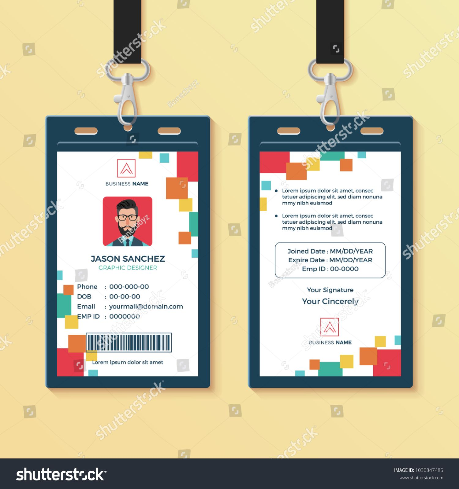 Creative Id Card Template Perfect For Any Types Of Agency Corporate Offices And Companies You Can Also Id Card Template Card Template Identity Card Design
