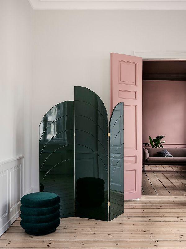 Unfold Room Divider - Dark Green