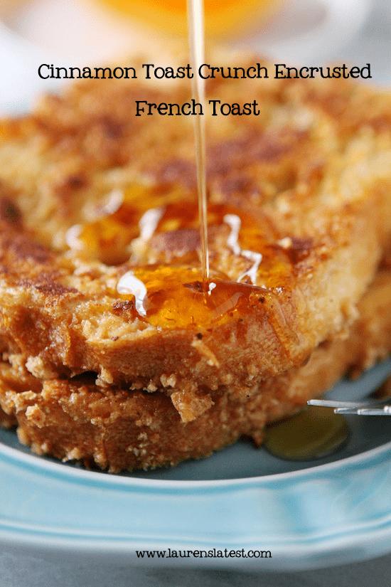 Cinnamon Toast Crunch Encrusted French Toast #cinnamontoastcrunch