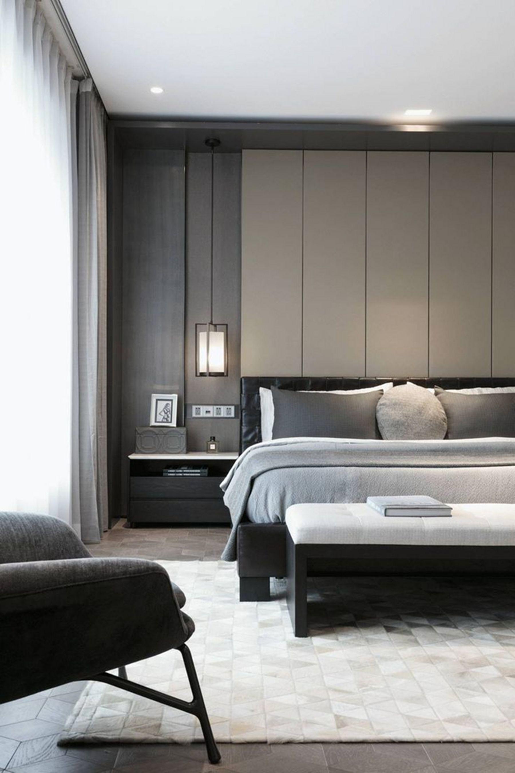 15 Elegant Minimalist Bedroom Decoration Ideas To Make It Comfortable Sleep Bedroom Interior Luxurious Bedrooms Bedroom Design Elegant minimalist luxury room