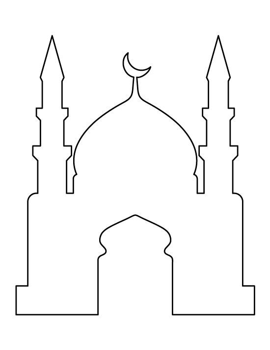 Mosque Pattern Use The Printable Outline For Crafts Creating Stencils Scrapbooking And More Free Pdf Template To Ramadan Crafts Ramadan Lantern Eid Crafts